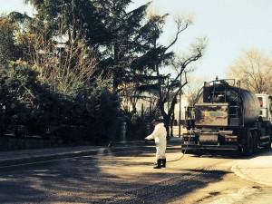 Anuncian cortes intermitentes en la carretera de La navata por asfaltado