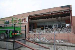 Comienzan a demoler el antiguo Mercado Municipal de Galapagar