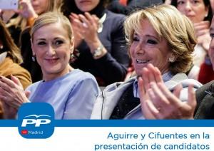 El lunes 30 Aguirre y Cifuentes intervendrán en la presentación de 32 nuevos candidatos a las alcaldías de la zona Oeste