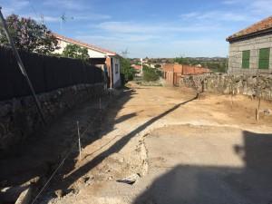 Obras de urbanización calle Tenería de Galapagar