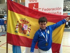 El esgrimista de Galapagar Álvaro campos, campeón de españa en Espada M12