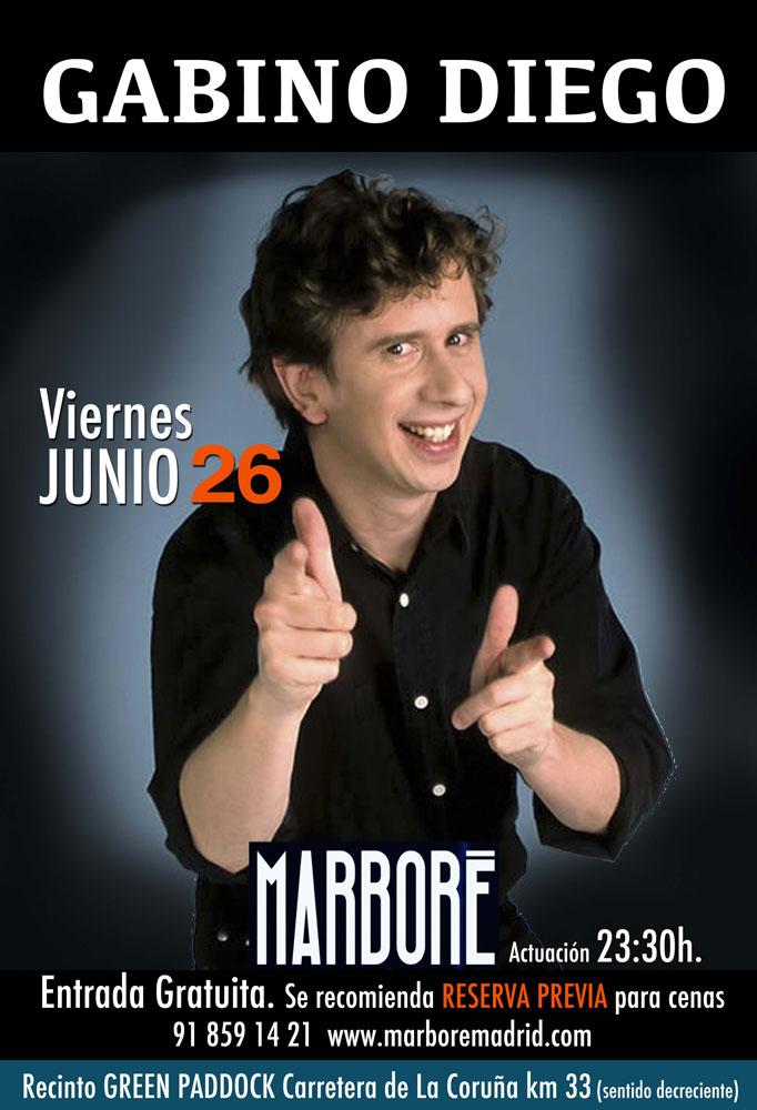 Gabino Diego amenizará este viernes la noche de Marboré