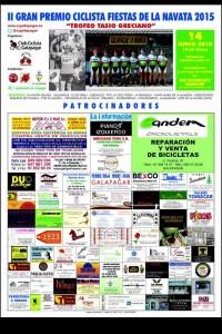 "II Gran Premio Ciclista Fiestas de la Navata 2015 ""Trofeo Tasio Greciano"""
