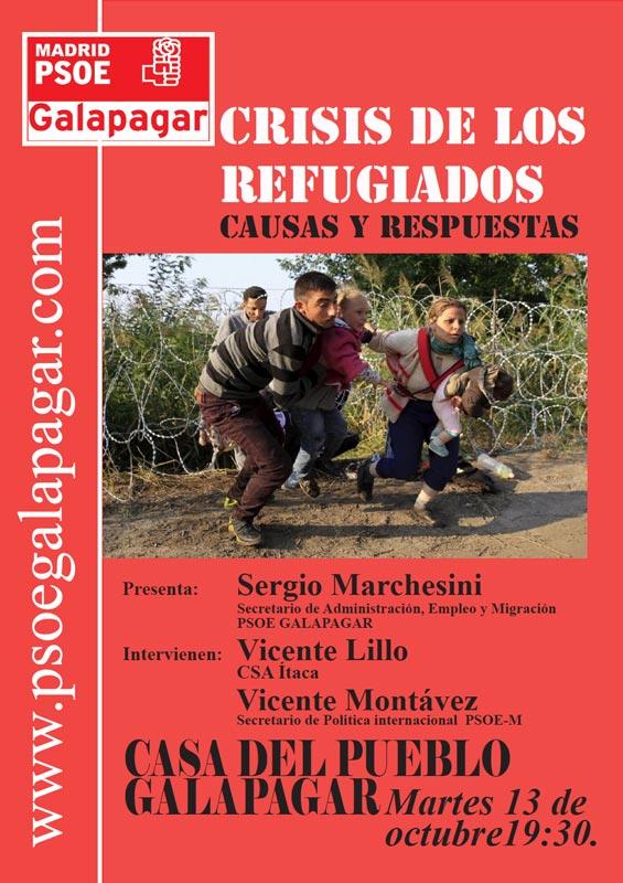 Martes 13: El PSOE de Galapagar analiza la Crisis de los Refugiados