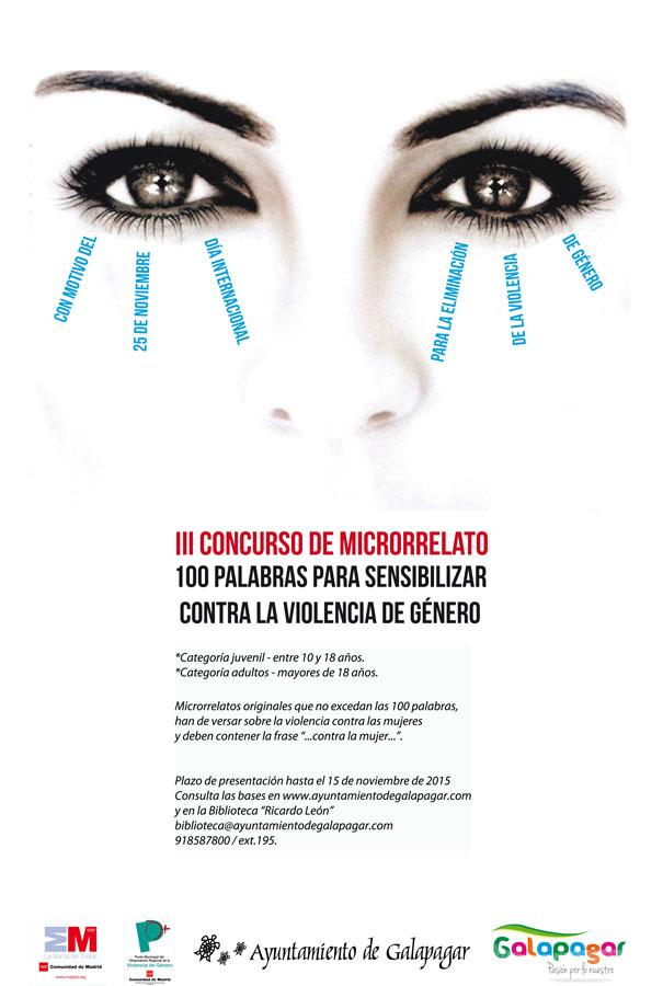 Concurso de Microrrelato contra la Violencia de Género de la Biblioteca de Galapagar