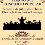 Cartel concierto Banda El Bemol