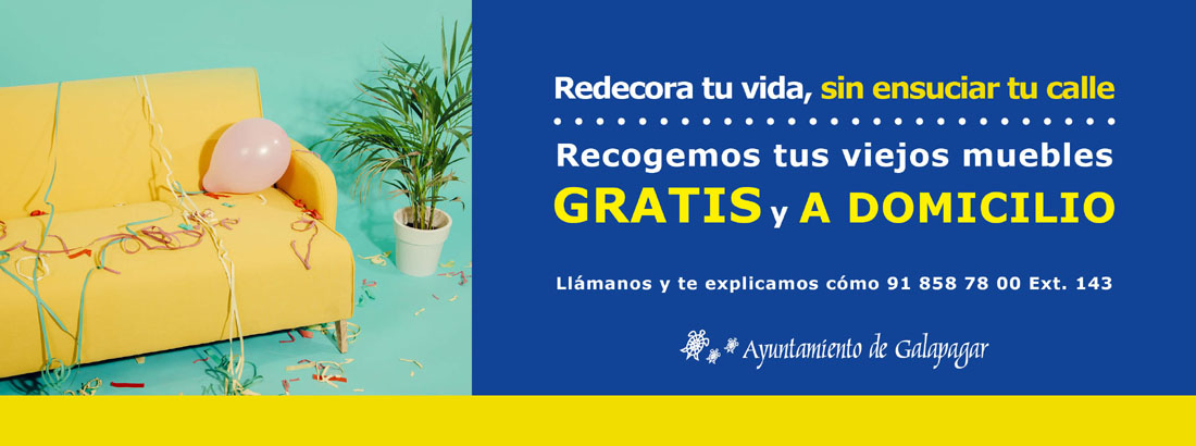 "Galapagar invita a ""redecorar tu vida, sin ensuciar tu calle ..."