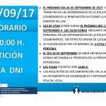 Renovación DNI en Colmenarejo, 26 septiembre 2017
