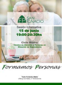 Formación Profesional - Ciclo de Grado Medio: Técnico en Atención a Personas en situación de dependencia