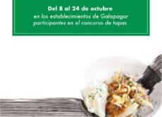 Cartel de la Feria de la Tapa de Galapagar, que será del 8 al 24 octubre